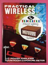 PRACTICAL WIRELESS Magazine - APRIL 1973 - PW Tricolour Mood Lighting System