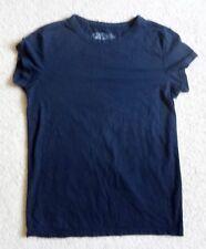 Ellemenno Plain Solid Black Womens Juniors T Shirt Top Size Medium