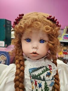 """Absolutely Beautiful Porcelain  23""""Artist Doll by The Dollmaker NWT"""