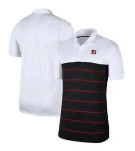 Nike Alabama Crimson Tide Men's Striped Polo CJ1184-100 MSRP $65