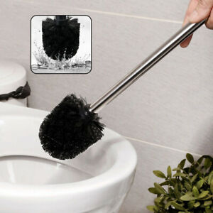 Set of 3 Replacement Toilet Brushes and Handle Bathroom Cleaning Tool black