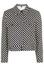 Topshop Popper Waist Length Cotton Coats & Jackets for Women