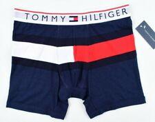 TOMMY HILFIGER Underwear Men's Cotton Boxer Trunks, Navy Blue, size M