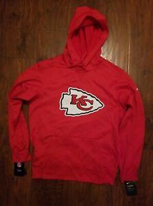 Kansas City Chiefs Men's Nike Dri-Fit Therma Hooded Pullover Sweatshirt SmallRed