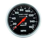 Auto Meter 3995 Gauge Speedometer 5 inch 160mph Mechanical Sport-Comp