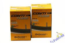 """2x Continental Fahrrad Schlauch MTB 26x1.75/2.50"""" 47/62-559 Autoventil 40mm AV"""
