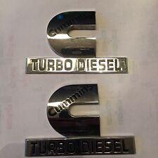 pair cummins turbo diesel emblems