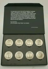 More details for set of rare winning ryder cup captain medals golf ball markers in display box