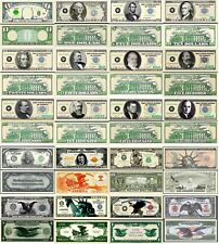 Multi-Denominational Set of 20 Dollar Bill Funny Money Notes with FREE SLEEVES