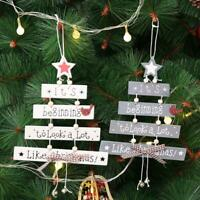 Christmas Decorations Tree Ornament Patterned Hanging Xmas Accessories Supplies