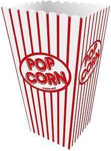 Retro Popcorn Boxes 10 Pack Carton Sweet Containers Cinema Movie