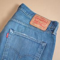 Vintage Levi 501 Jeans Blue Straight Button Fly Unisex (PatchW33L32) W 32 L 32