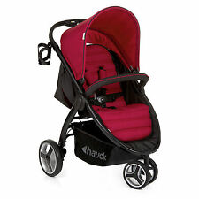 NEW HAUCK CHILLI RED LIFT UP 3 PUSHCHAIR STROLLER FROM BIRTH BABY JOGGER BUGGY