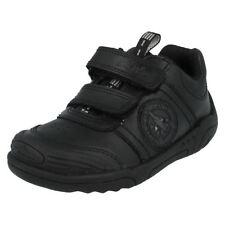 Clarks Boys' School Shoes with Hook & Loop Fasteners