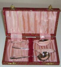 BUY-IT-NOW three piece boxed ANGORA SILVER PLATE Co Ltd cutlery set EPNS ENGLAND