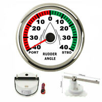 85mm Marine Boat Rudder Angle Gauge Meter Indicator 0-190ohm with Mating Sensor