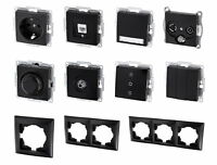 UP Schalterprogramm G1 schwarz - Steckdose Taster Schalter Dimmer Dose Serie
