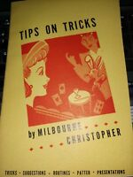Vintage Melbourne Christopher Tips on Tricks Book 1942 Sam Berland Publication