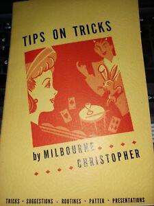 Vintage Melbourne Christopher Tips on Tricks Book 1942 Sam Berland Publication