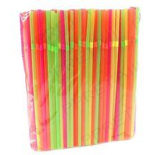 600 x Neon Flessibile Cannucce Festa Di Compleanno BERE Cannucce colorate assortiti