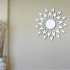Soleil Stickers Muraux Miroir Autocollant Amovible Murale DIY Maison Décoration