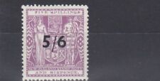 NEW ZEALAND  1940    S G F188  5/6 ON 5S 6D  LILAC   MH  CAT £140