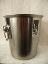 ice bucket wine or champagne stainless steel Debenhams with handles 19cm tall