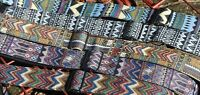 Embroidered 1960s-1970s Vintage STYLE Guitar Instrument Strap/Belt Gibson/Fender