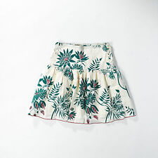 Geblümte knielange schwingende Damenröcke aus Baumwollmischung