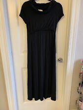 Nixilu Nursing Maternity Maxi Dress M Black