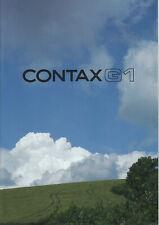 Contax Prospekt für Contax G1 System