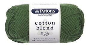 PATONS Cotton Blend Soft Knitting / Crochet Yarn 50gram/95m 8 Ply  Mixed Colours