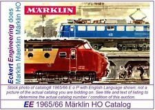 EE 1965/66 E SP VG Marklin HO Catalog 1965 1966 Picture of 3070 Very Good Cond