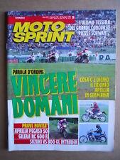 MOTOSPRINT n°26  1992     [Q21]  TEST APRILIA PEGASO 50 GILERA RC 600 R SUZUKI V