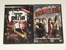 Lot Of 2 Dvds: Shaun of the Dead & Zombieland ~ Very Good ~ Zombie Horror Comedy