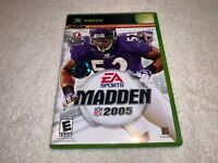 Madden NFL 2005 (Microsoft Xbox, 2004) Complete Excellent!