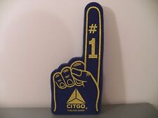 """CITGO Oil Gas Station Foam Finger Blue & Yellow 16"""" Advertising Promotional NEW"""