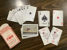 Vintage Twa Playing Cards Featuring Ford Tri-Motor 1929 Airplane