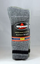 Wigwam Merino Wool Acrylic Boot Cushioned Trail Socks 3 Pack Size Large