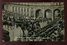 Royalty GEORGE V Coronation Procession State Coach at Admiralty Arch RP PPC 1911