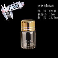Mini Clear Glass Bottle Aluminum Screw Cap Container Borosilicate Vial Empty