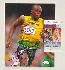 Usain Bolt Signed 8x10 Olympic Track Runner Photo Autographed JSA COA