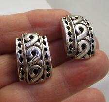 Estate Vintage Signed John Hardy Sterling Silver 11.2 Gram Pierced Earrings