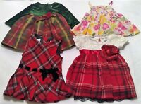 Girls 12 month dress lot 4 Christmas flower floral stretch lace baby cute x32