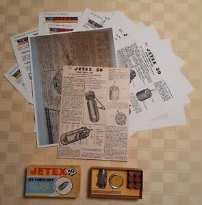 VTG JETEX 50 JET-PROPULSION KIT with ORIG. INSTRUCTION  SHEET, ETC.