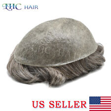 Invisible Ultra Thin Skin Mens Toupee Remy Hair System Light Density Replacement