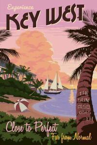 Key West Florida - Vintage Travel Art - Vintage Poster - Print Poster