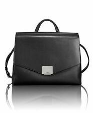 NEW TUMI Mariella satchel black Leather bag briefcase flap laptop case $895