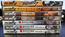 Pride Fighting Championships Bushido Vol. 1 through 7 DVD UFC MMA BJJ ONE