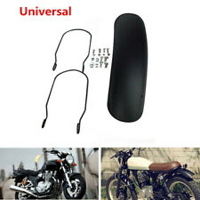 Black Motorcycle Bike Retro Retrofit Fender Protector Mudguard Cover Matte Trim